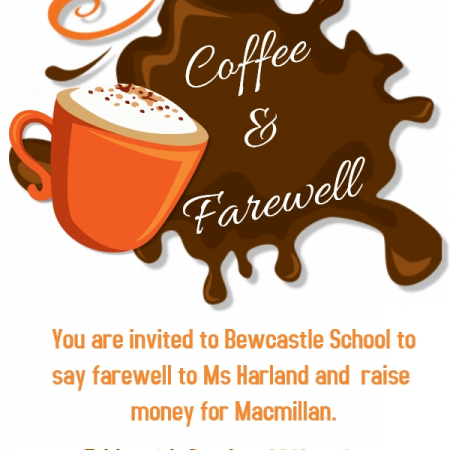 Ms Harland's farewell coffee afternoon